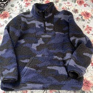 Blue Camo Victoria Secret Sherpa